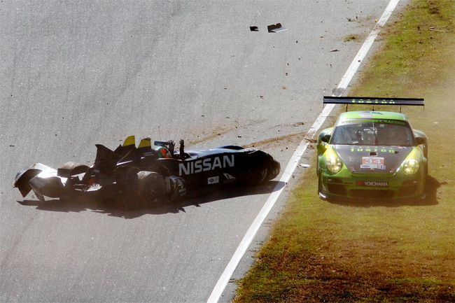 Nissan DeltaWing accidentado
