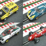Scalextric Renault 5 Copa - Ford GT 40 - Lancia Stratos - Ferrari 156 F.1