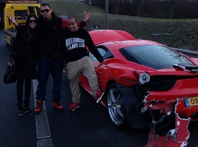 Ferrari 458 Italia Afrojack accidente
