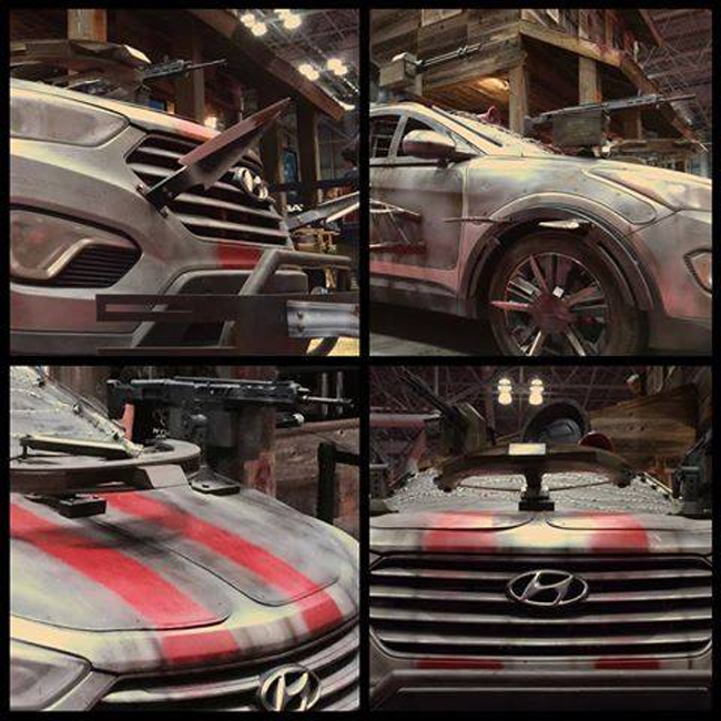 Hyundai-Santa-Fe-Zombie-Survival-Machine-comic-con