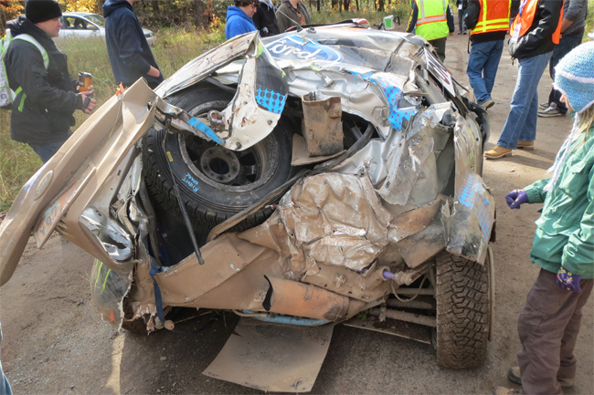 accidente-ken-bloc-Lake-Superior-Performance-Rally-2013