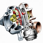 Drive-technology-turbocharger-with-electrically-adjustable-guide-vanes-from-a-Mercedes-Benz-C-Class-model-series-203-CDI-engine.