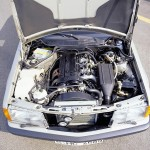 Sixteen-valve-engine-in-the-compact-class-View-of-the-engine-compartment-of-the-Mercedes-Benz-190-E-2.3-16-1984-1988-from-the-W-201-series