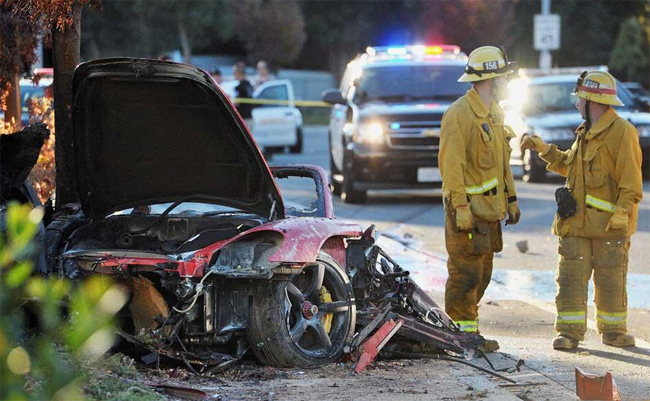 Estado del Porsche Carrera GT del accidente de Paul Walker