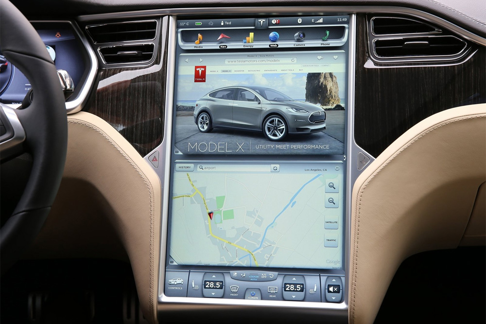 hacker tesla model s pantalla