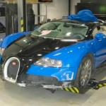 Sale a subasta un Bugatti Veyron accidentado