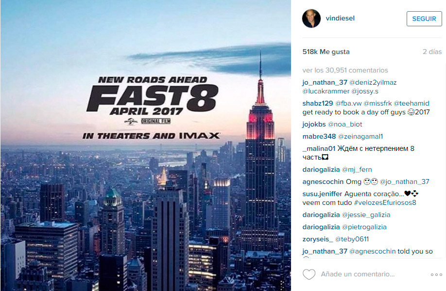 A todo gas 8, Fast & Furious 8