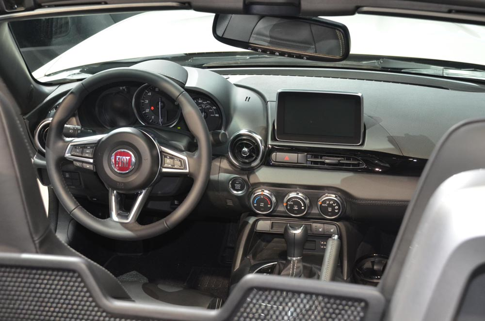 interior fiat 124 spider 2016 1 periodismo del motor. Black Bedroom Furniture Sets. Home Design Ideas