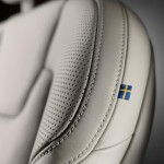 Close-up Volvo S90 seat Made by Sweden