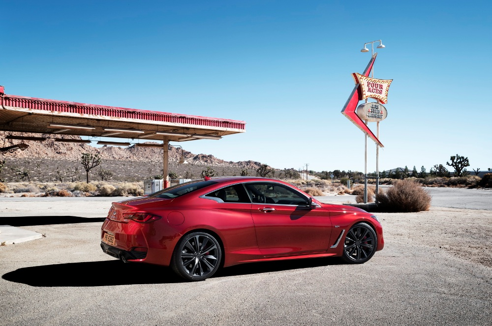 The Q60?s bold exterior ? lower and wider than predecessors ? expresses a powerful elegance through its daring proportions and taut, muscular lines. Dynamic enhancements, including an all-new lightweight and sophisticated 3.0-liter V6 twin-turbo engine, together with new adaptive steering and digital suspension systems, result in a premium sports coupe designed and engineered to perform.
