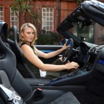 Maria Sharapova in New Porsche Boxster Spyder