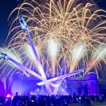 Goodwood house central feature fireworks.