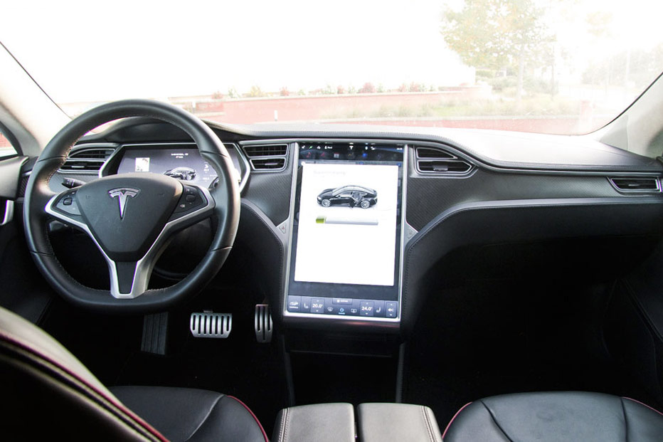 Interior Prueba Tesla Model S P on Volkswagen Turbo