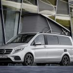 Marco Polo AMG Line, Exterieur, Frontschürze mit markanten Lufteinlässen, Rautengitter und Chromzierelemente, brillantsilber metallic ;
