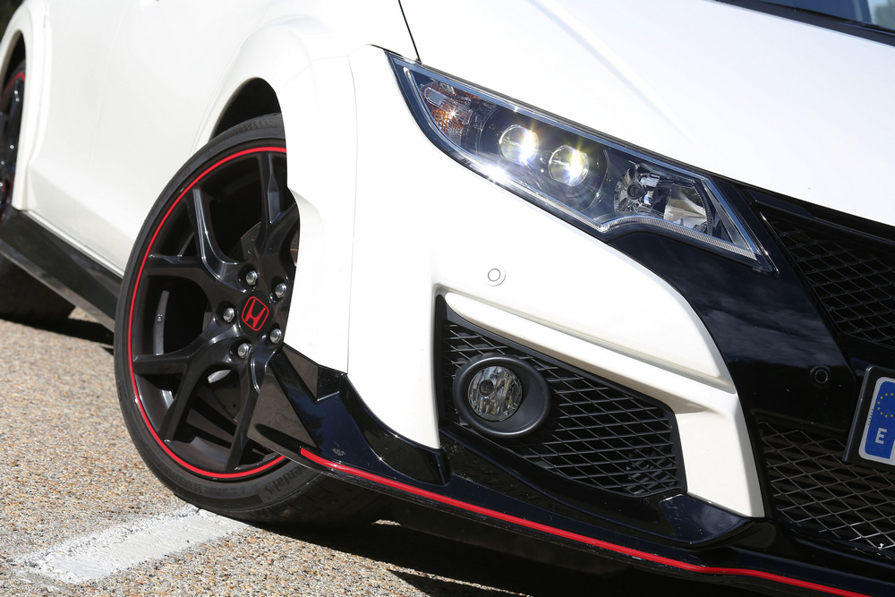 detalle frontal del Honda Civic Type R
