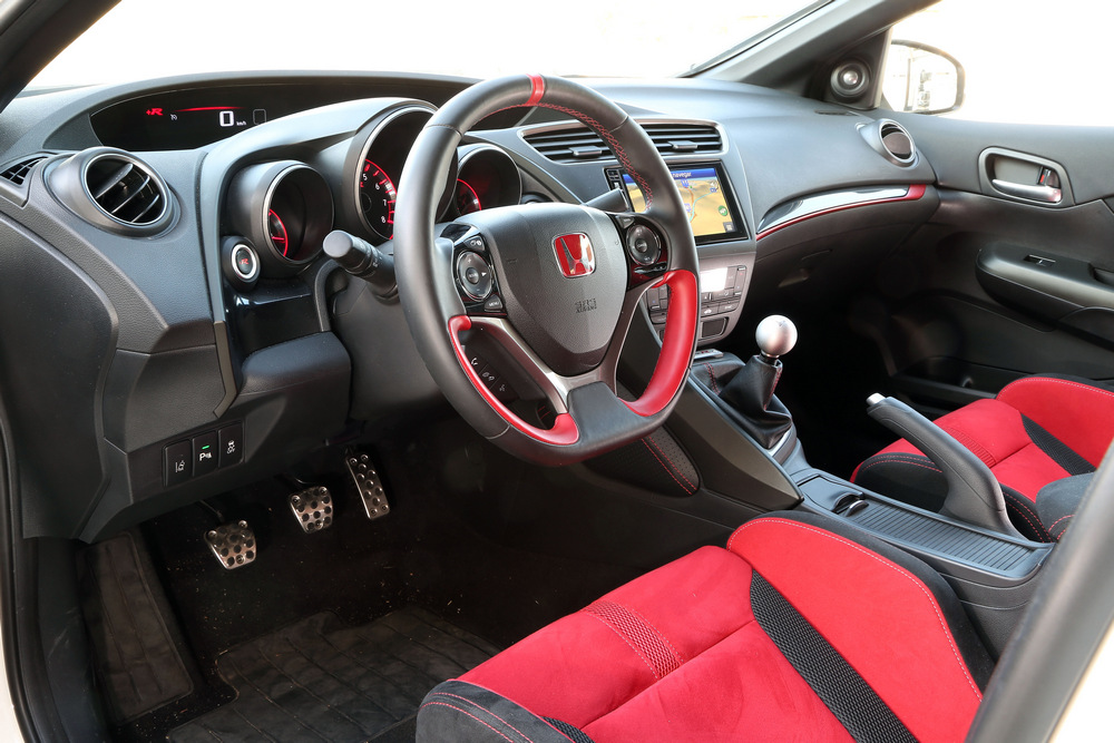 interior del Honda Civic Type R