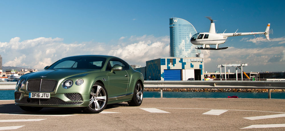prueba del Bentley Continental GT Speed en Barcelona