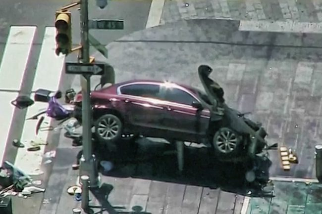 accidente en Times Square
