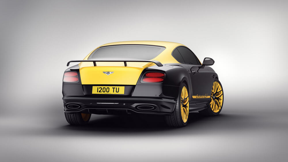 Bentley Continental 24 Limited Edition Monaco Yellow y Black Crystal