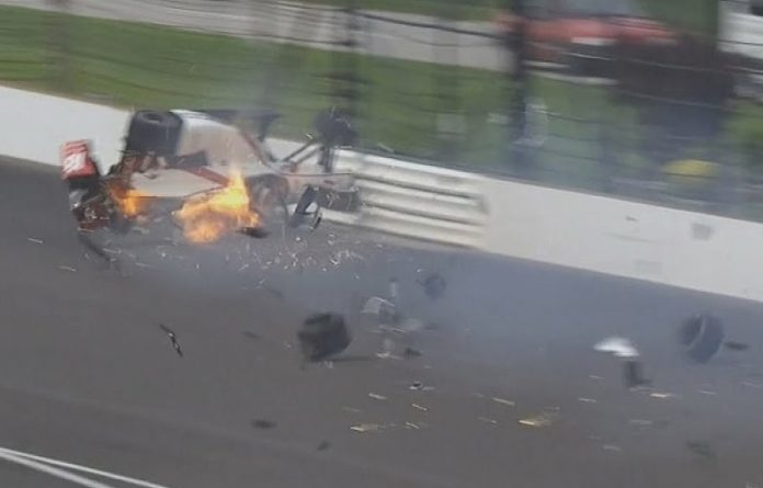 Indy500 2017: accidente de sebastien bourdais