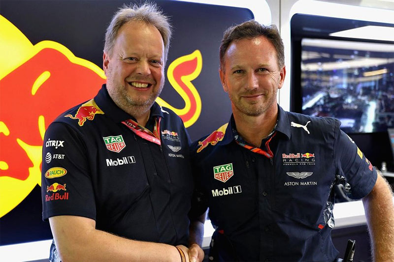 Andy Palmer y Christian Horner, CEO Aston Martin y Red Bull