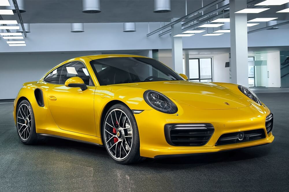 Saffron Yellow Metallic Porsche 911 Turbo