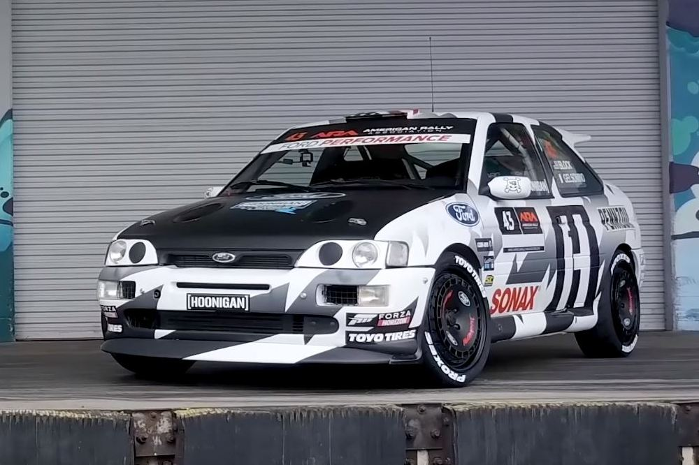 El Ford Escort RS Cosworth de Ken Block en llamas Ford-Escort-RS-Cosworth-Ken-Block