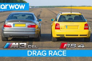 BMW M3 CSL E46 vs Audi RS 4 Avant