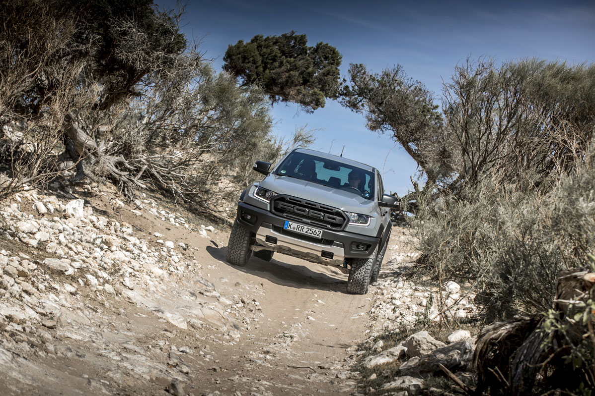prueba off-road del Ford Ranger Raptor