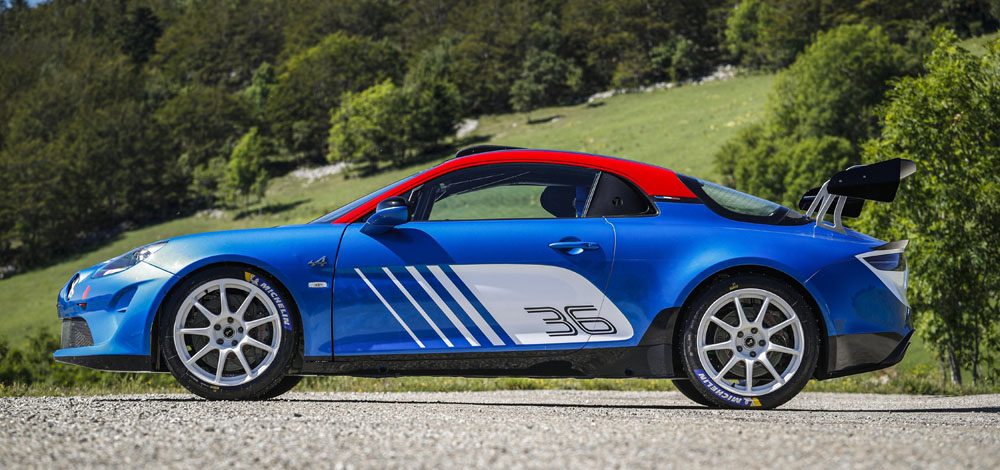 Alpine A110 Rally lateral