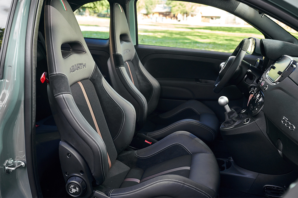 Abarth 695 70 Anniversary interior