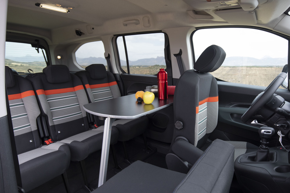 Citroën Berlingo by Tinkervan interior