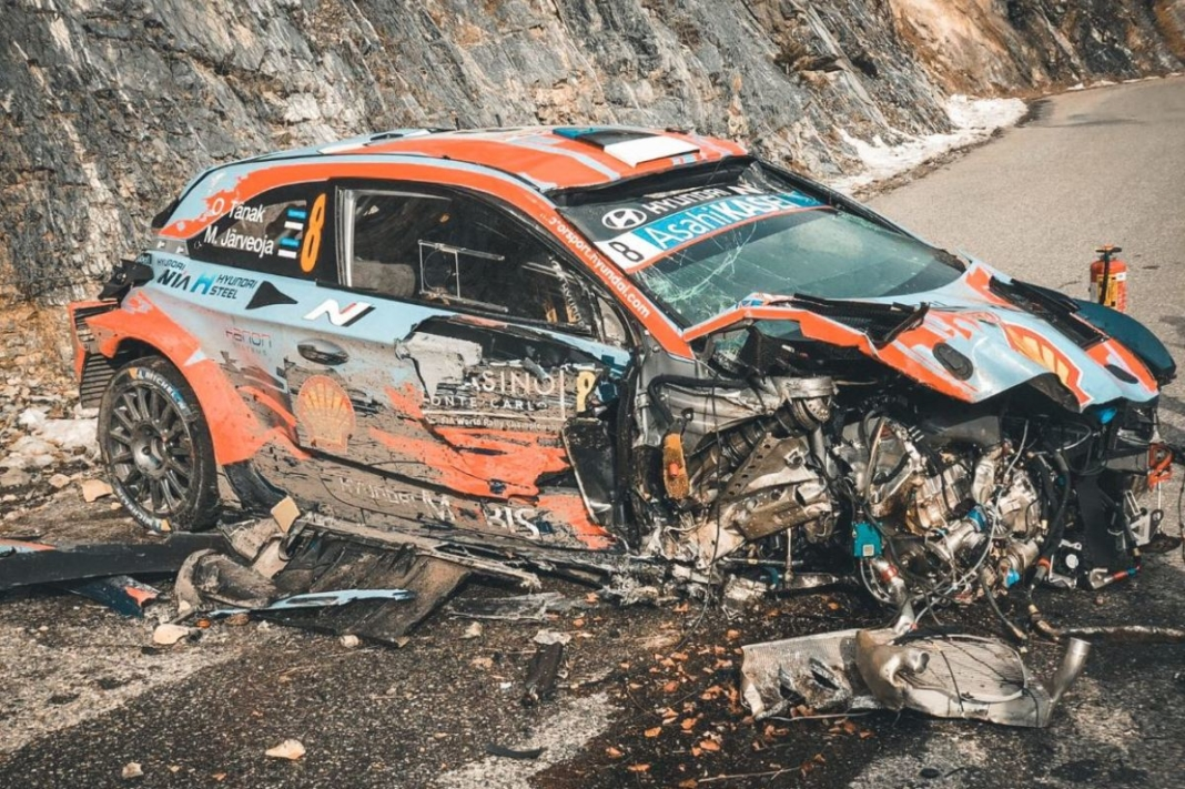 accidente Tänak Järveoja Rally Montecarlo
