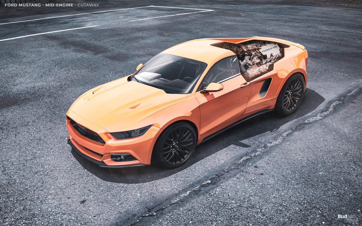 Ford Mustang con motor central