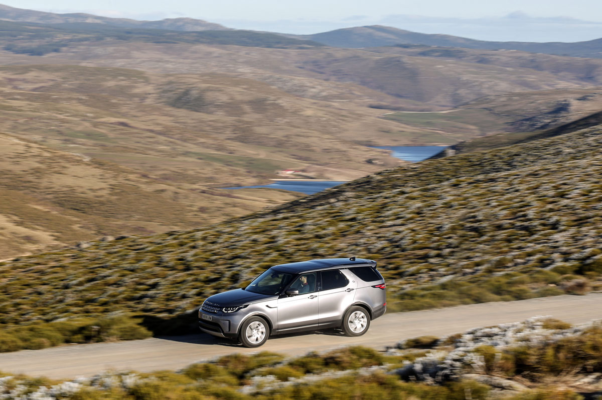 prueba off-road del Land Rover Discovery