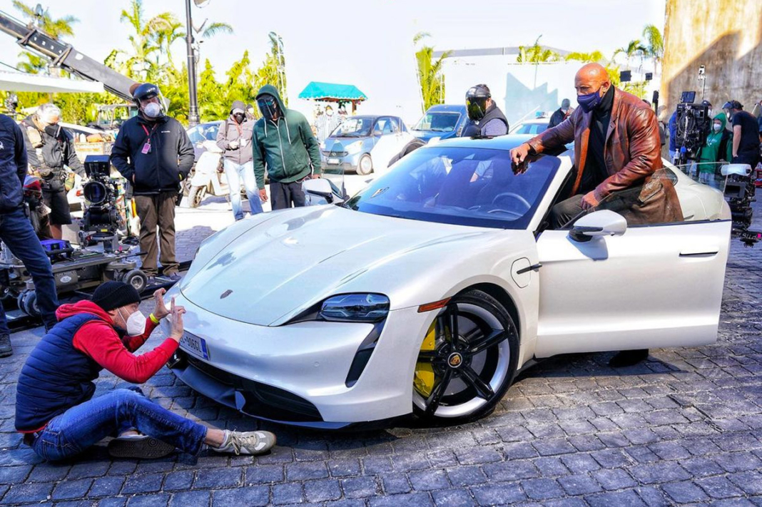 Dwayne Johnson 'The Rock' Porsche Taycan