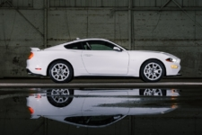 Mustang Ice White coupe lateral
